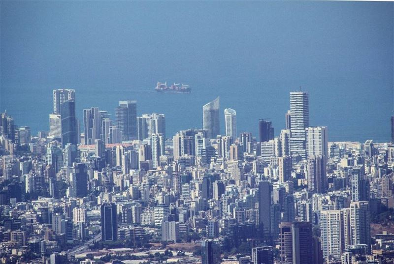 picoftheday world beirut city mountain high blue sky photography...